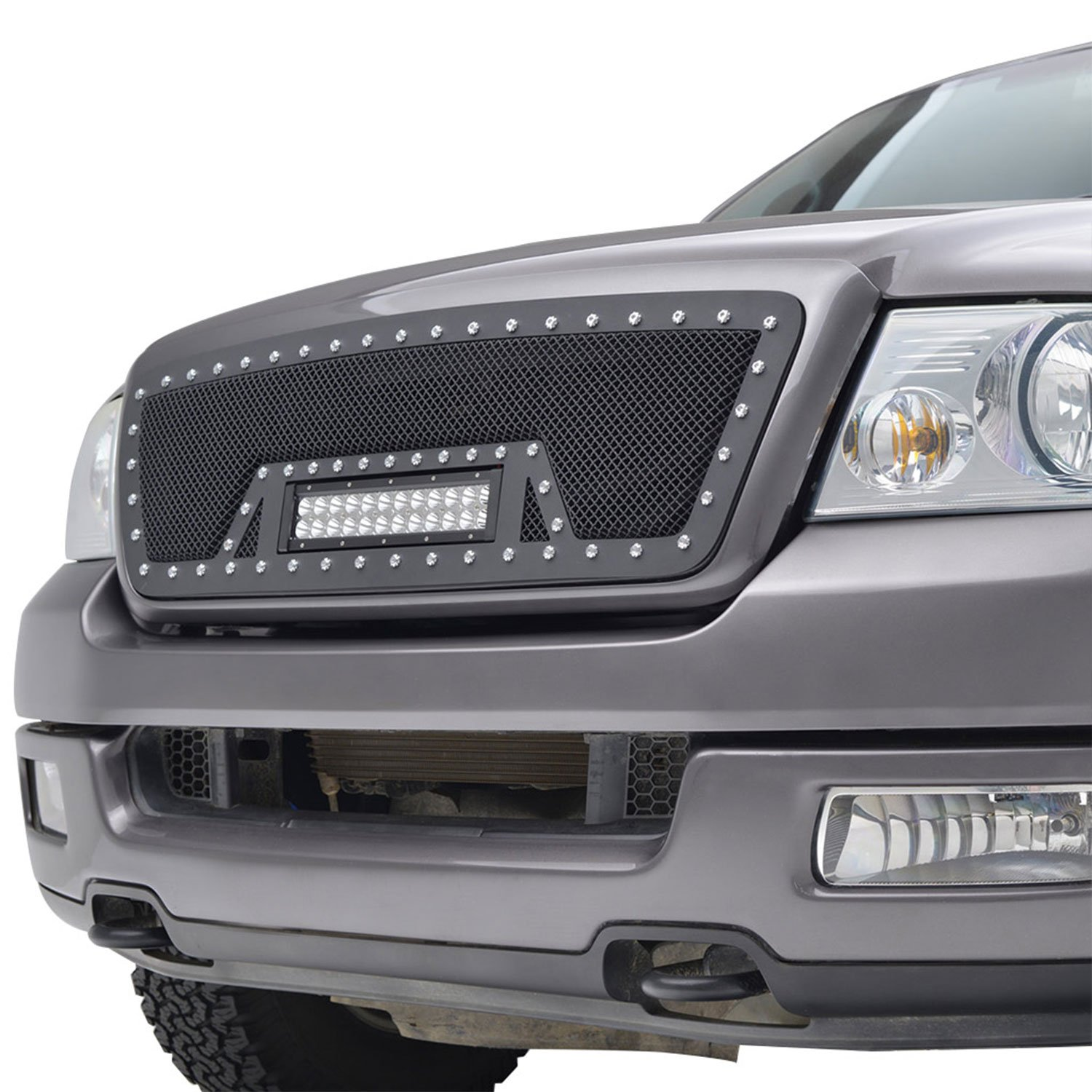 Fits 04-08 Ford F-150 Stainless Steel Mesh Grille Insert