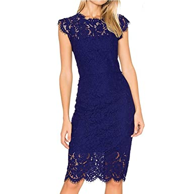 Elegant Wedding Party Lace Dresses Women Black Retro Tunic
