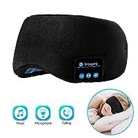 Sleep Headphones Bluetooth Eye Mask, Joseche Wireless Bluetooth 5.0 Headphones Music...