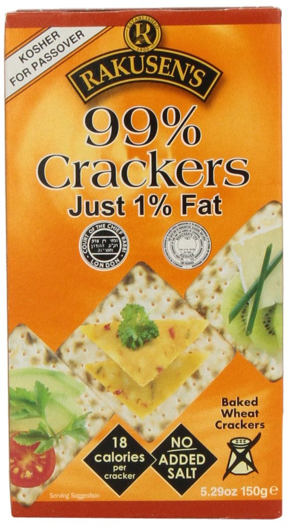 Rakusen's Cracker, 99 Percent Fat Free, Passover,5.2900-ounces (Pack of6)
