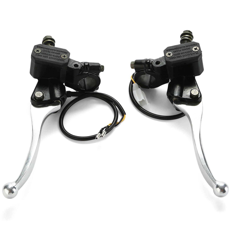 CICMOD Black Brake Clutch Master Cylinder Reservoir Lever Universal for Motorcycle,Honda,Yamaha,Kawasaki,Suzuki,50cc to 400cc Dirt Bikes,MX Motocross and Enduro Off-road
