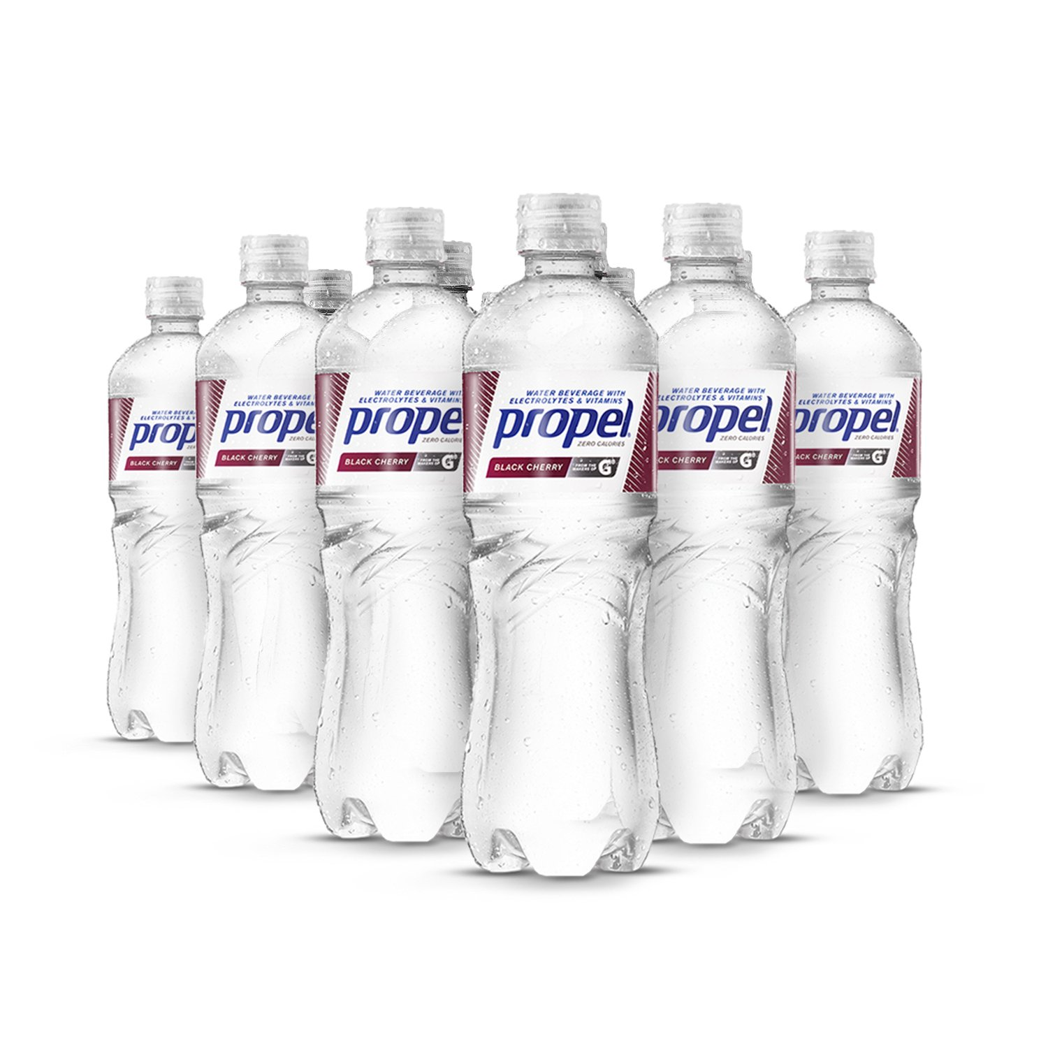 Propel Water Black Cherry Flavored Water With Electrolytes, Vitamins and No Sugar 16.9 Ounces (Pack of 12)