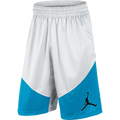 wholesale dealer 594a0 9b48c Jordan Melo Triangle and Jumpman Men s Basketball Shorts White Blue 589110- 100 (Size