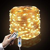 Cadena de Luces, 10m 100 LEDs Guirnalda