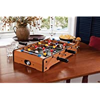 Foosball Table 4 Rod Soccer Game, Mini Table Top Football Desktop with Two Balls Kids Birthday Gift
