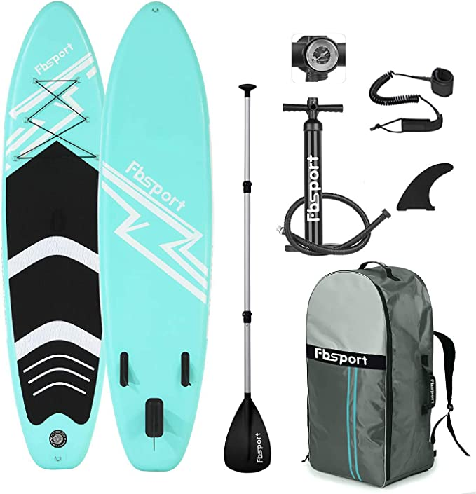 FBSPORT Premium Inflatable Stand Up Paddle Board (6 inches Thick)