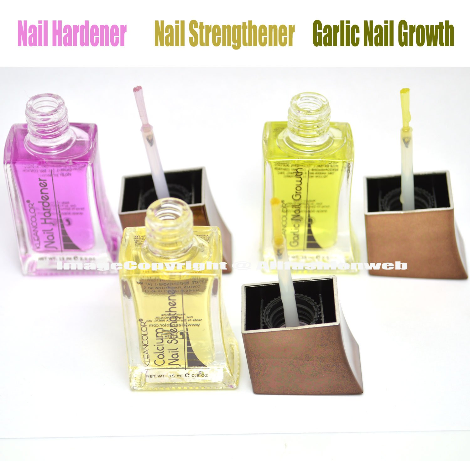 Buy 3 Kleancolor Nail Hardener, Strengthener, Garlic Growth Polish ...