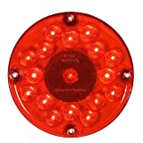"""Maxxima M90061R 17 LED Red 7"""" Round Stop/Tail/Turn Bus Light"""