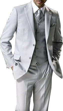 5 piezas traje gris claro Studio coletti Chaleco corbata nuevo Tallas ...