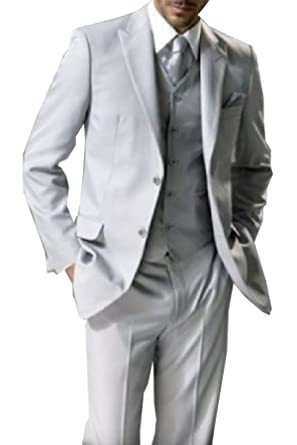 5 piezas traje gris claro Studio coletti Chaleco corbata nuevo ...
