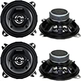 "4) New Kenwood KFC-1065S 4"" 420 Watt 2-Way Car Audio Coaxial Car Speakers Stereo"