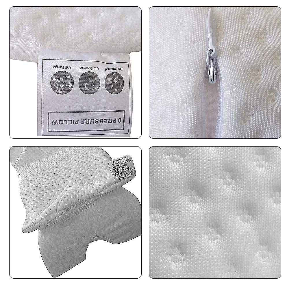 Womdee Memory Foam Pillow Arched Pillow Slow Rebound Pressure Romantic Couple Sleeping Pillow Anti-Hand Numb /& Anti Snore