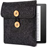 Emoly Kindle Sleeve for Kindle Oasis 7'' E-Reader - Protective Insert Felt Hybrid Laptop Sleeve Case Cover Bag Fits Kindle Oasis 10th Generation 2019 / 9th Generation 2017, Black