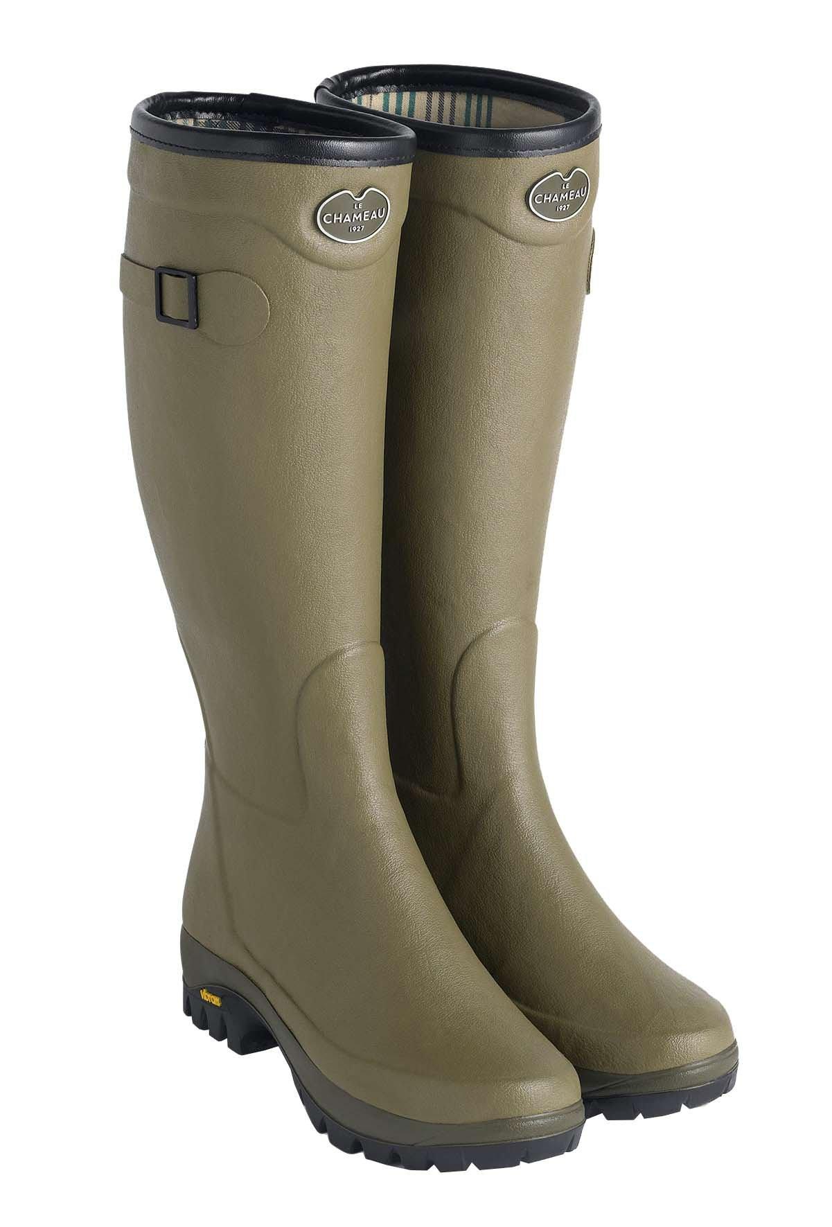 Le Chameau Men's Country Vibram Jersey Lined Boots Vert Vierzon Green - US 9 by LE CHAMEAU 1927