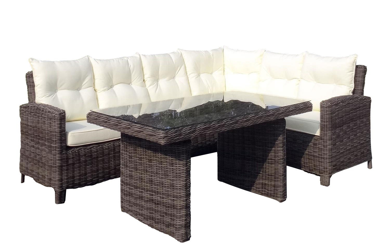 Baidani Rattan Lounge Garnitur Magic aus der Kollektion Ronde