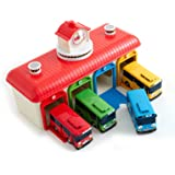Amazing TAYO The Little Bus With 4 Buses (Tayo, Rogi, Gani, Rani), Talking Central Garage Play set by TAYO mimiworld
