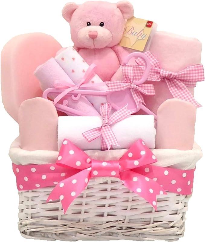 Angel en osier blanc rose b/éb/é Panier Cadeau//Panier//Baby Pour B/éb/é//Cadeau de douche NEW ARRIVAL Souvenir de b/éb/é//Cadeau//envoi rapide