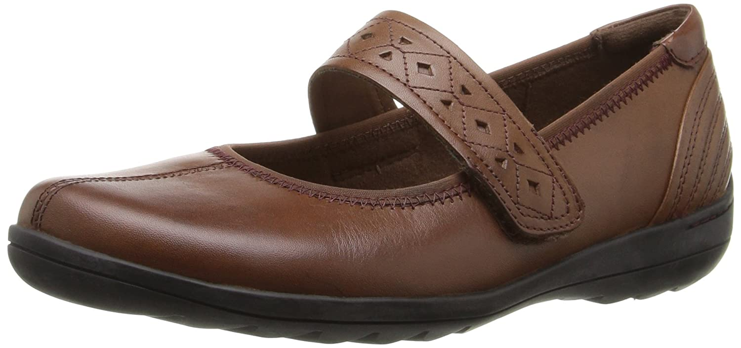 Rockport Women's Cobb Hill Laila Mary Jane Flat B01AK6WT8E 8.5 N US|Almond