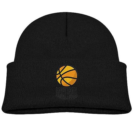Amazon.com  Basketball Logo Kids Boy Girl Knit Hats Winter Soft   Warm  Beanies Caps  Clothing 25eed87b327