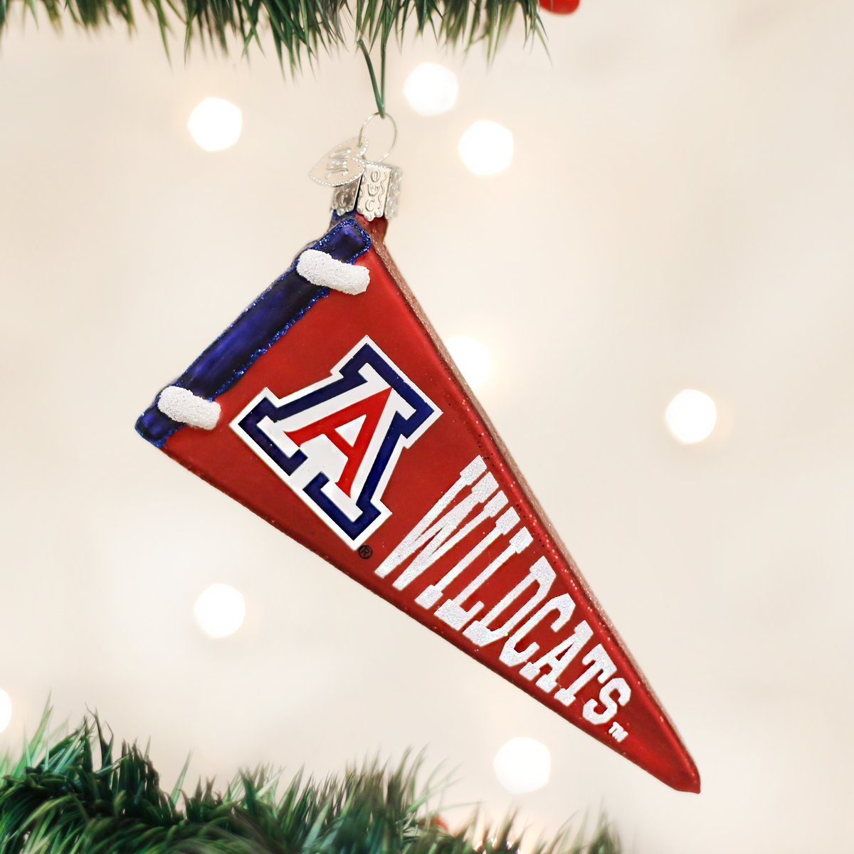 Rutgers ornament - Amazon Com Old World Christmas Arizona Pennant Glass Blown Ornament Home Kitchen