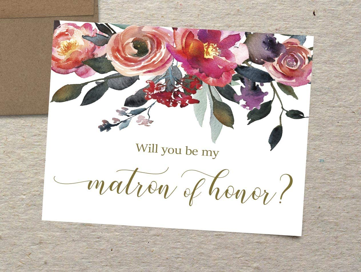 Maid of Honor Card Flower Girl Card Matron of Honor Card Bridesmaid Card Set of 10 Will You Be My Bridesmaid Cards