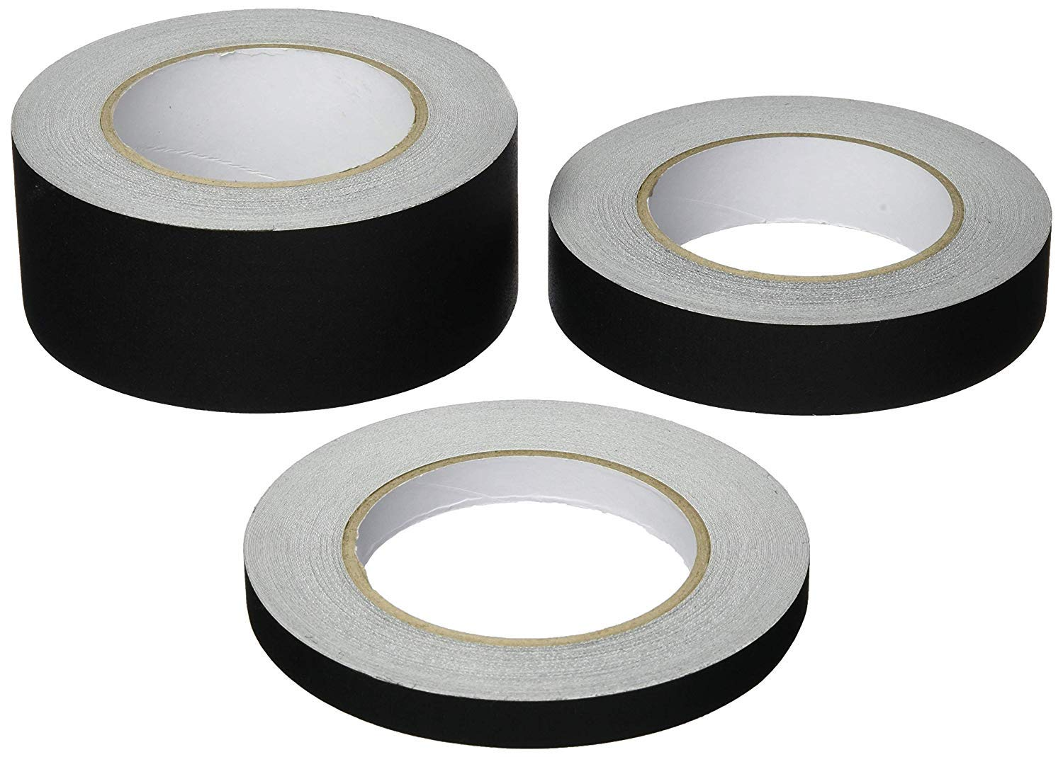 SticMaster Premium Grade Gaffers Tape] Multi Pack (1)2'' (1)1'' (1)½'' inch x 30 Yards Each-Black Matte Cloth Photographers Tape -Main Stage Gaff Duct Tape - Easy to Tear & No Residue