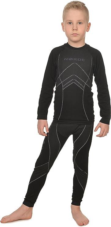 NORDE THERMOTECH Kids Sport Termoattivo Traspirante Intimo funzionale Camicia + Pantaloni SET