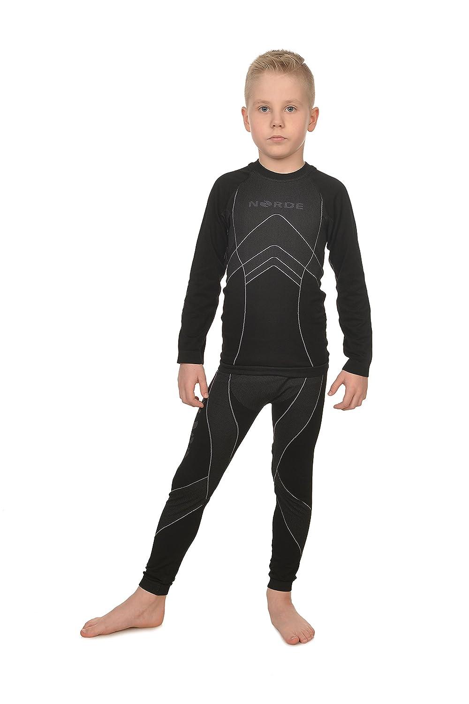 Freenord NORDE THERMOTECH Kinder Sport Thermoaktiv Atmungsaktiv Funktionswäsche (Hemd + Hose) Set