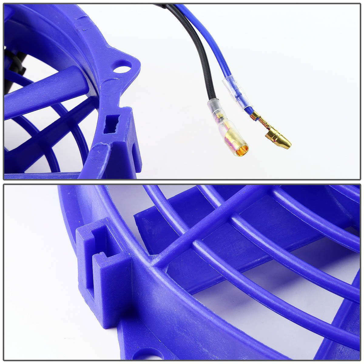 9 Inch High Performance Blue Electric Radiator Cooling Fan Kit (Pack of 2)