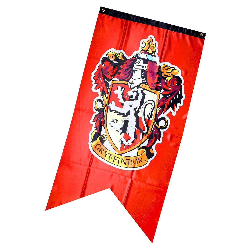 75 cm 125 Creative-Idea Banni/¨/¨re Harry Potter Gryffondor Coll/¨/¨Ge Drapeau Rouge Lion DOr Cadeau Maison F/¨/ºte D/¨/¦cor
