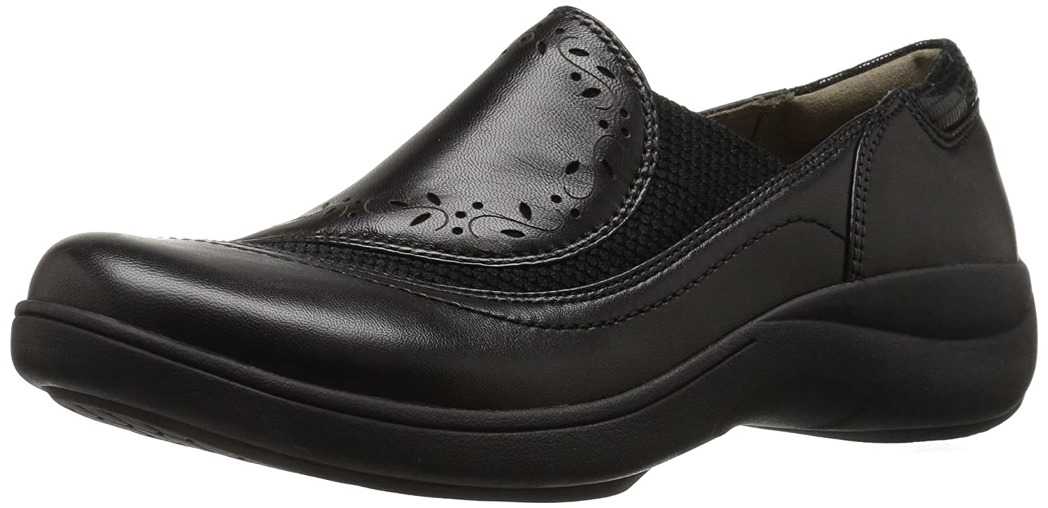 Aravon Women's REVsolace Flat B01AOVOT60 6 D US|Black Smooth