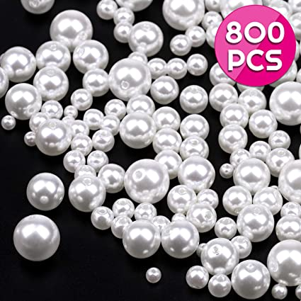 White Ivory//Cream Glass Pearl Spacer Loose Bead Bride Bridal DIY Jewellry Making