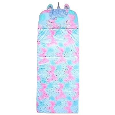 Justice Unicorn Sleeping Bag Kids Slumber Bag Extra Large: Sports & Outdoors