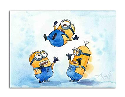 Tamatina Canvas Painting   The Minions   Kids Room   Paintings For Home  Décor   Paintings For Drawing Room   Wall ...