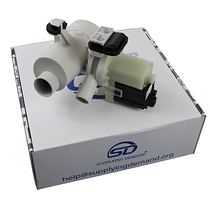 Supplying Demand W10130913 Washing Machine Drain Pump Motor Assembly Replaces 8540024 W10201457 8540025
