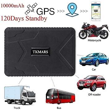 Rastreador GPS para Coche, Zeerkeer 10000mAh 120 días Tiempo en Espera Espera en Tiempo Real