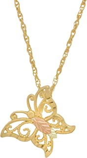 product image for 10k Black Hills Gold Butterfly Pendant Necklace