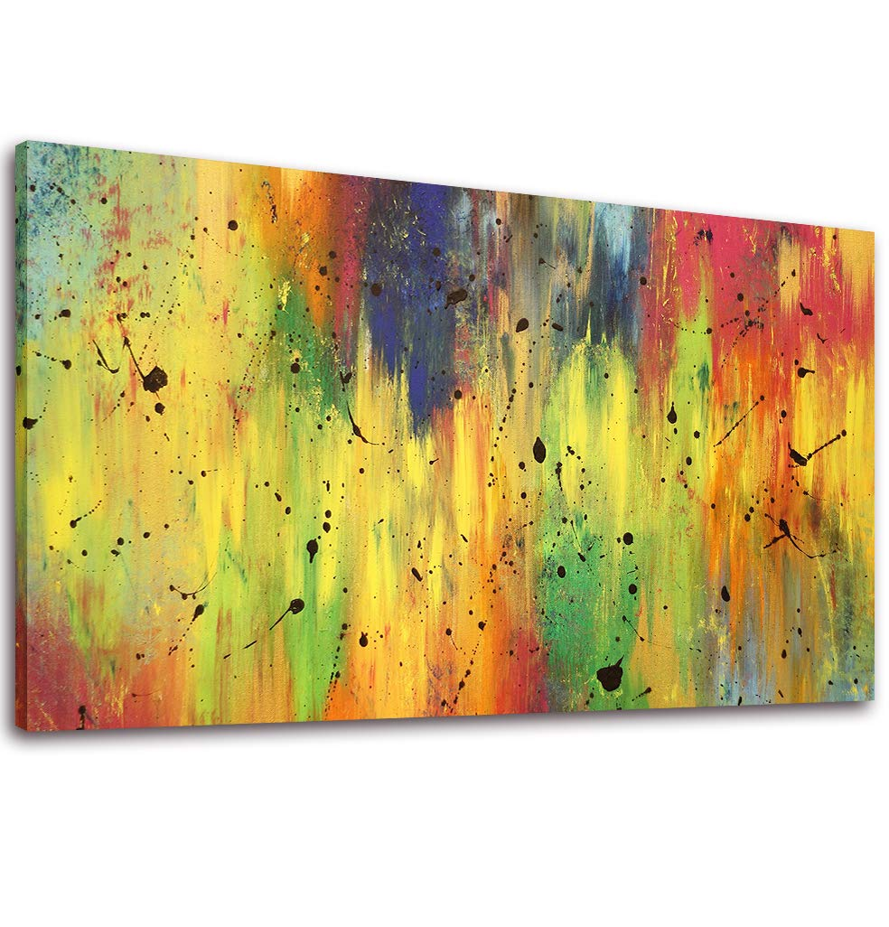 Canvas Wall Art Abstract with Yellow Painting Print - 20