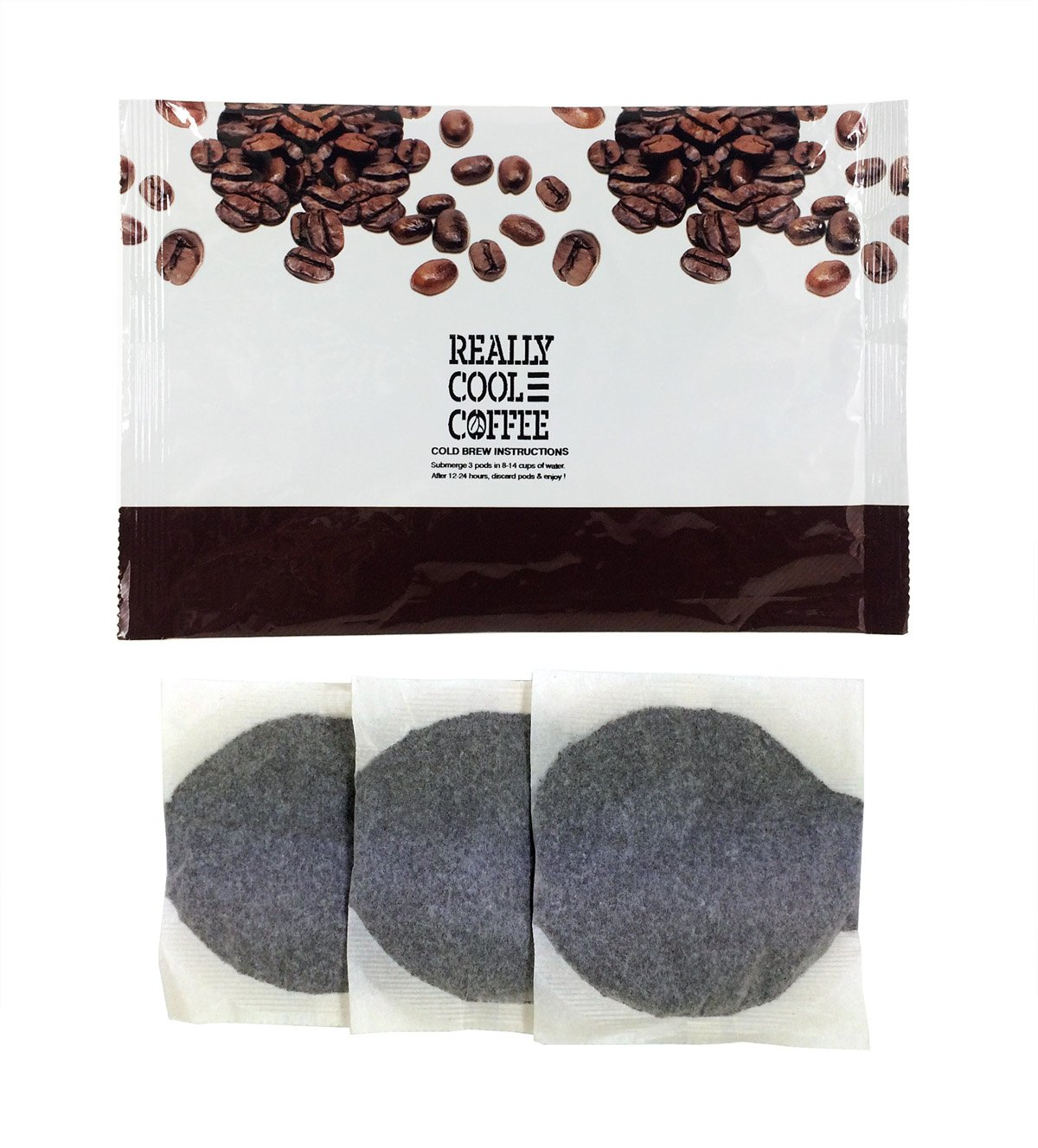 ReallyCoolCoffee Cold Brew Homemade Iced Coffee Kit (1 Foil Pouch, 3 Bags)