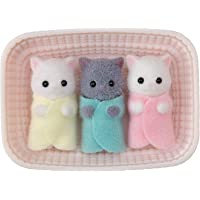 Calico Critters, Persian Cat Triplets, Dolls, Dollhouse Figures, Collectible Toys; Figures and Cradled Accessory…