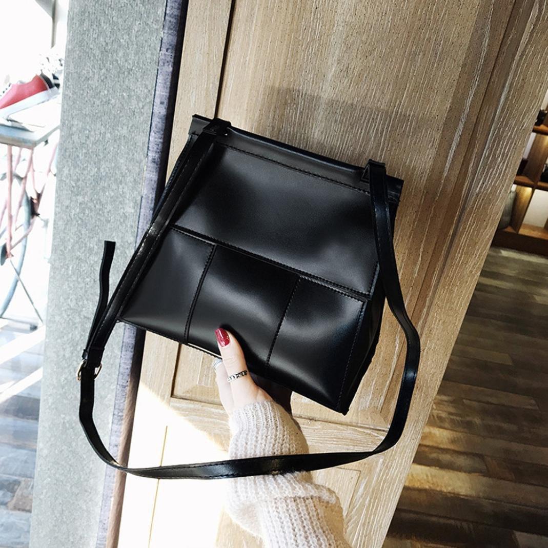 bcab788ef0b9 KONFA Crossbody Bags For Women PU Leather Ladies Medium Solid Color ...
