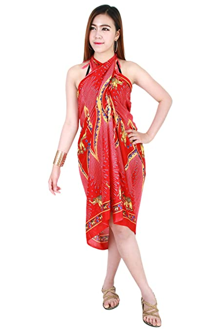 776f434b8c Amazon.com : Charm Elephant Sarong Pareo Skirt Dress Wrap Cover up Beach  Swimwear sa258r : Everything Else
