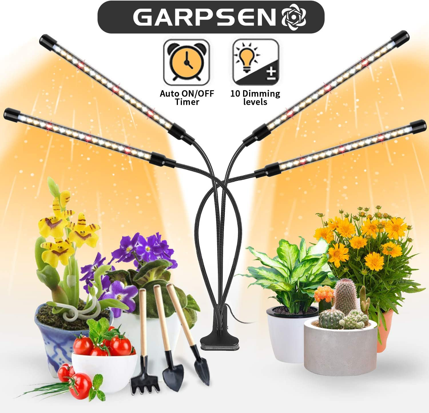 Garpsen 4 Head Sunlike Full-Spectrum LED Grow Light w