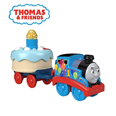 Thomas & Friends Fisher-Price Birthday Wish Thomas, Musical Push-Along Toy Train: Toys & Games