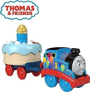 Thomas & Friends Fisher-Price Birthday Wish Thomas, Musical Push-Along Toy Train