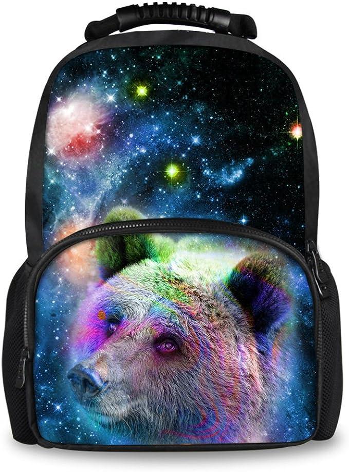 Children Boys School Bag Animal Backpacks Casual Bookbag With Galaxy Pattern Bag
