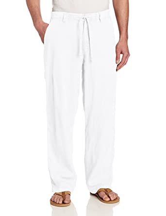 Margaritaville Men's Cabana Linen Elastic Waist Pant at Amazon ...