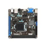 MSI Mod H81I Motherboard (Mini-ITX, LGA1150 Socket, H81, USB 3.0, Gigabit LAN, Onboard-Grafik, HD Audio) schwarz