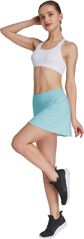 HonourSport - Falda de tenis para mujer con mallas deportivas, tallas XS - XXL azul claro M