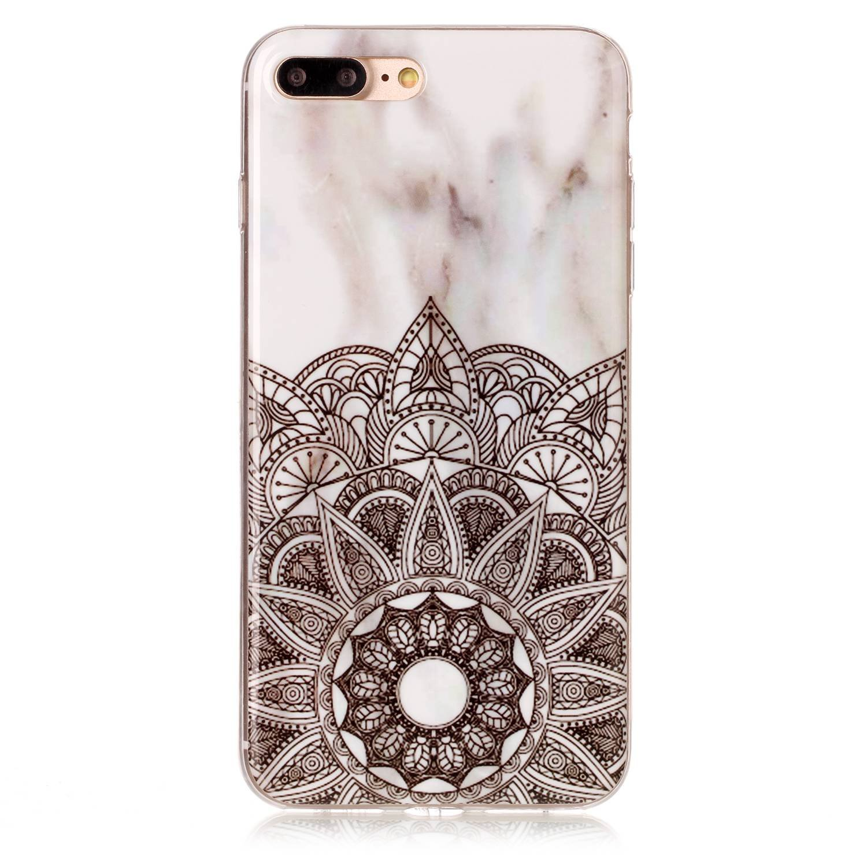 Coque iPhone 7 Plus / iPhone 8 Plus 5,5, Lomogo Housse Marbre Gel Silicone Anti-Choc Anti-Rayures Souple Coque de Protection pour iPhone 7Plus / 8Plus (5,5 Pouces) - YIHU23452 #2 5